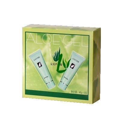 完美芦荟胶礼盒 (2支装 40g/支)舒缓皮肤不适、祛痘祛痘印、控油保湿、补水嫩白【送礼精包装】
